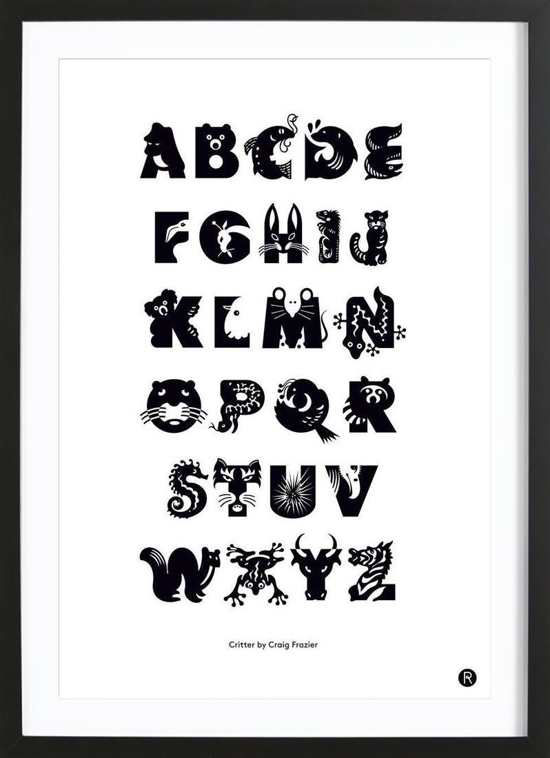 Critters als Poster im Holzrahmen von Richard Hood   JUNIQE