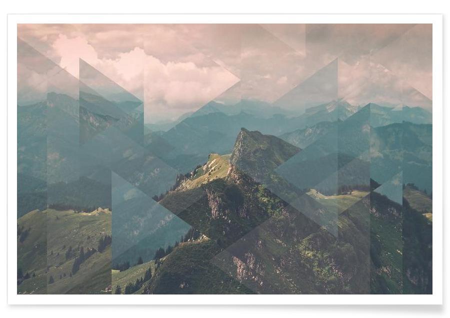 Alps Scattered - Premium Poster Landscape