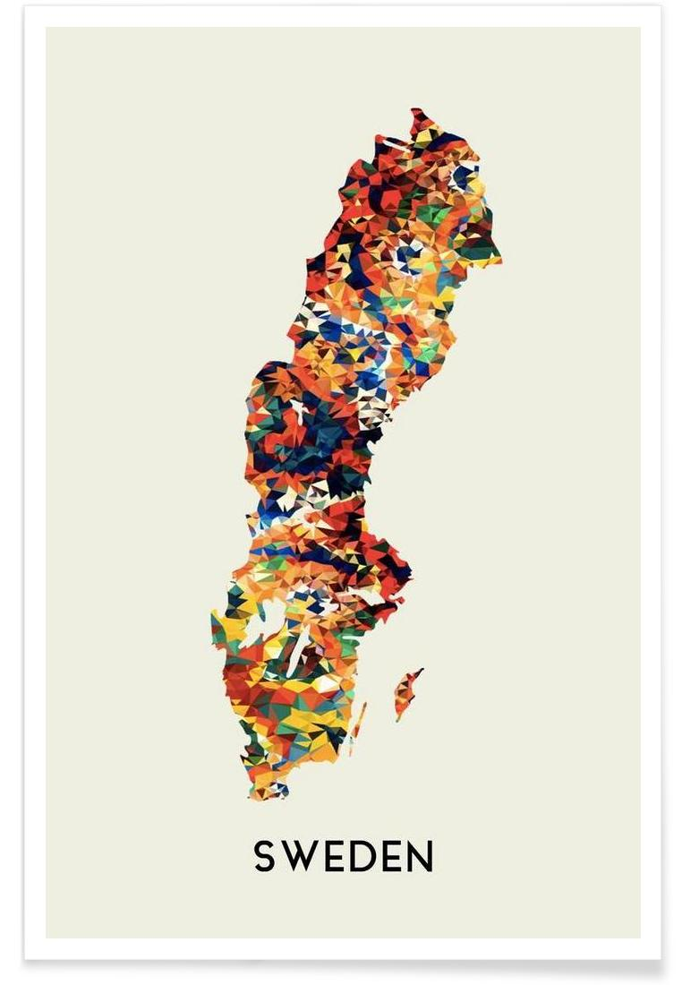 sweden als poster von in full color juniqe