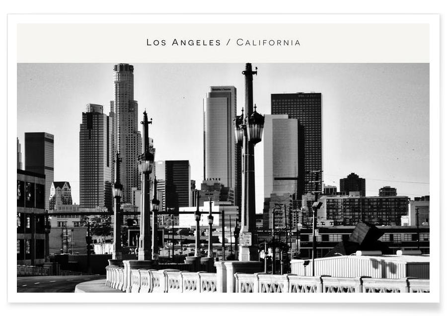 Los Angeles B&W als Premium Poster von In Full Color | JUNIQE