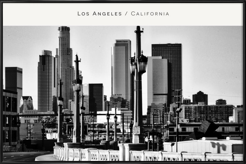 Los Angeles B&W als Poster im Kunststoffrahmen | JUNIQE CH