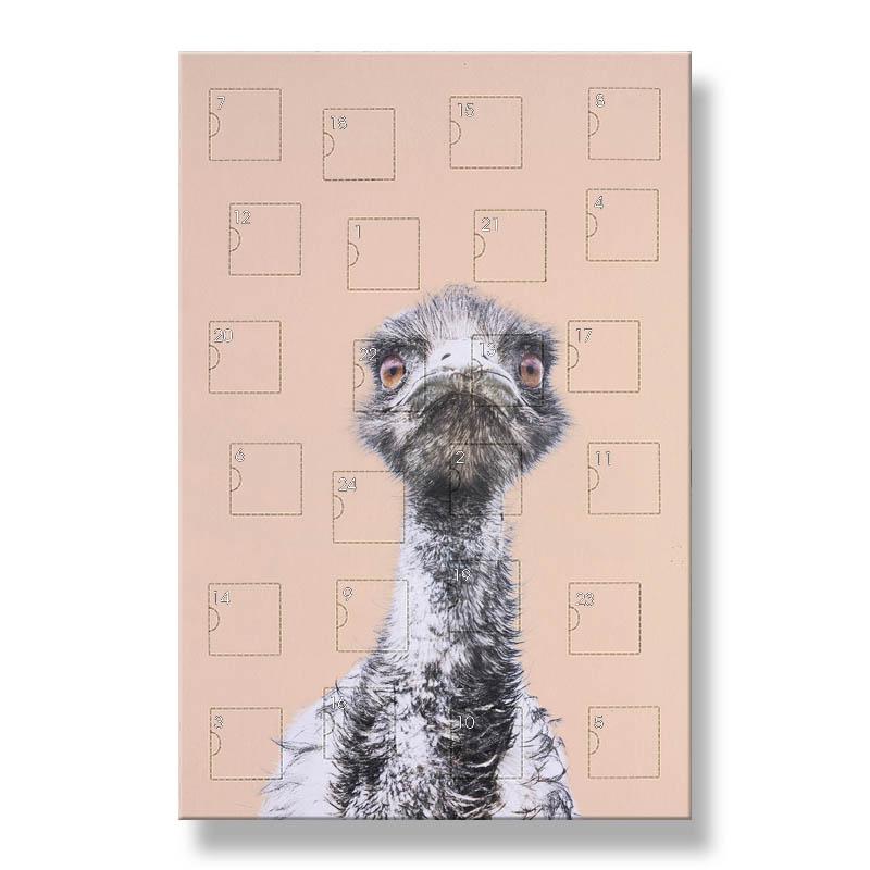Emu Calendar.Orange Emu