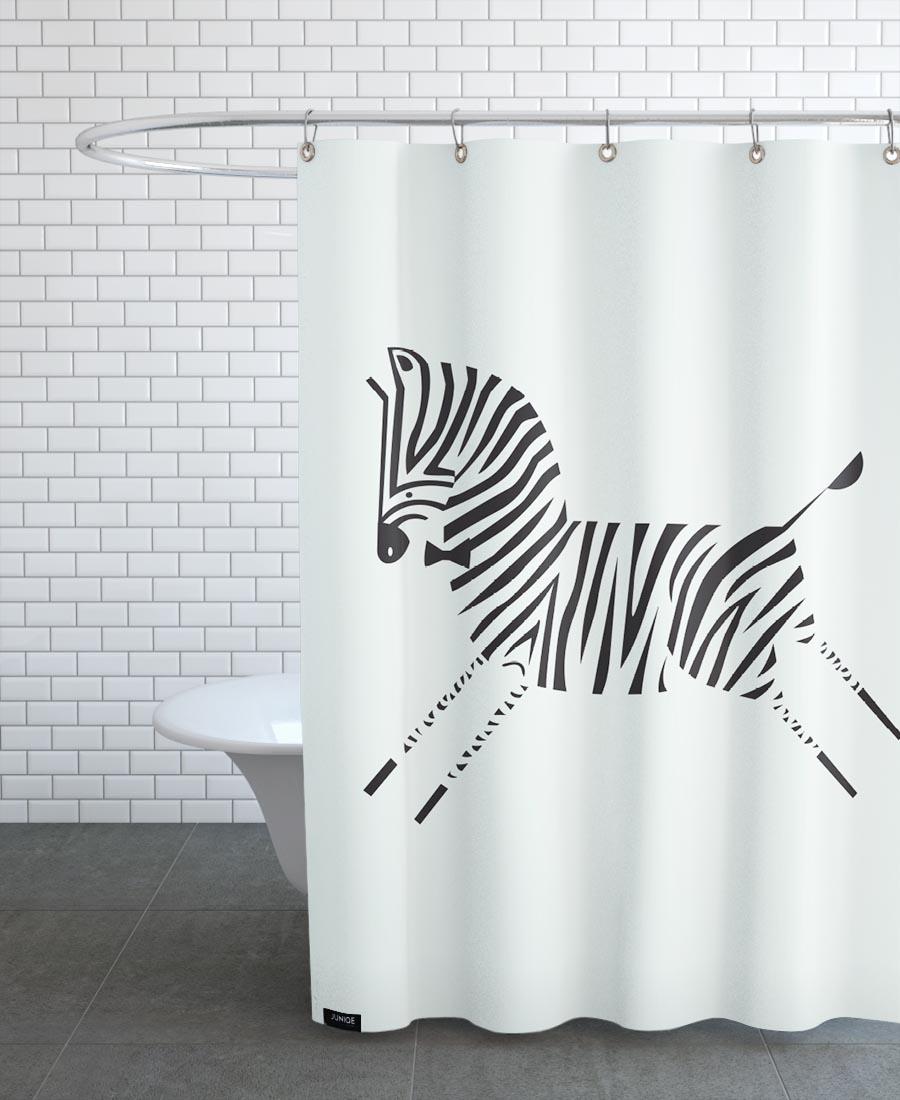 Zebra As Shower Curtain By Patricia Mafra