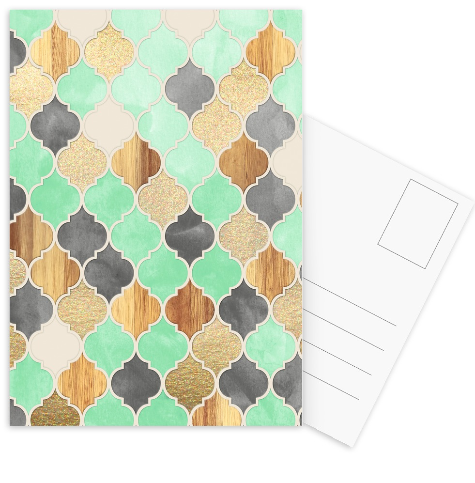 textured moroccan pattern als tapete von micklyn le feuvre | juniqe, Wohnzimmer dekoo
