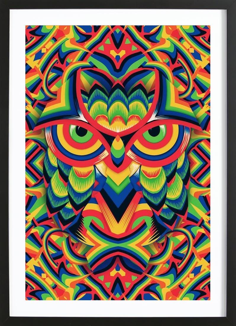 Duschvorhang transparent mit motiv : Owl 3 als duschvorhang von ali gulec juniqe