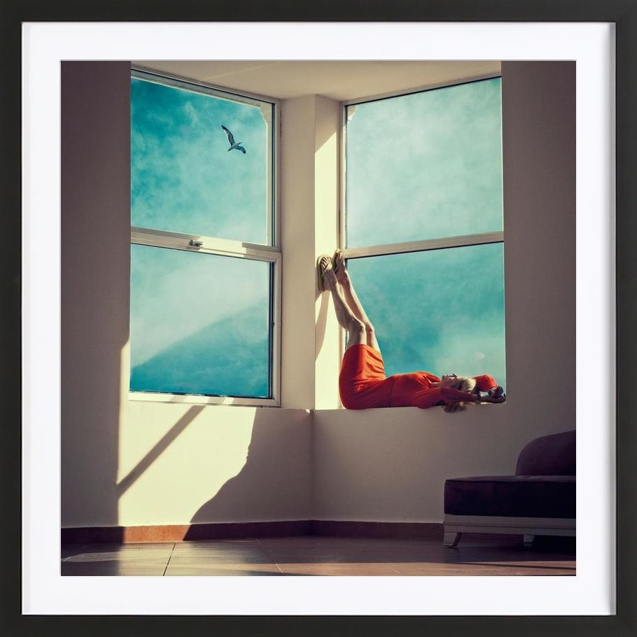 Room With A View - Framed Premium Poster 1x1