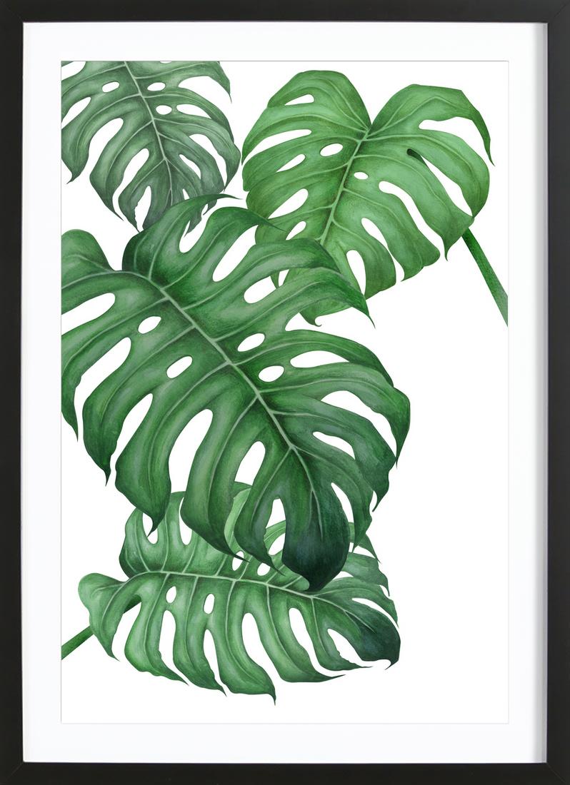 Tropical No.2 - Framed Premium Poster Portrait
