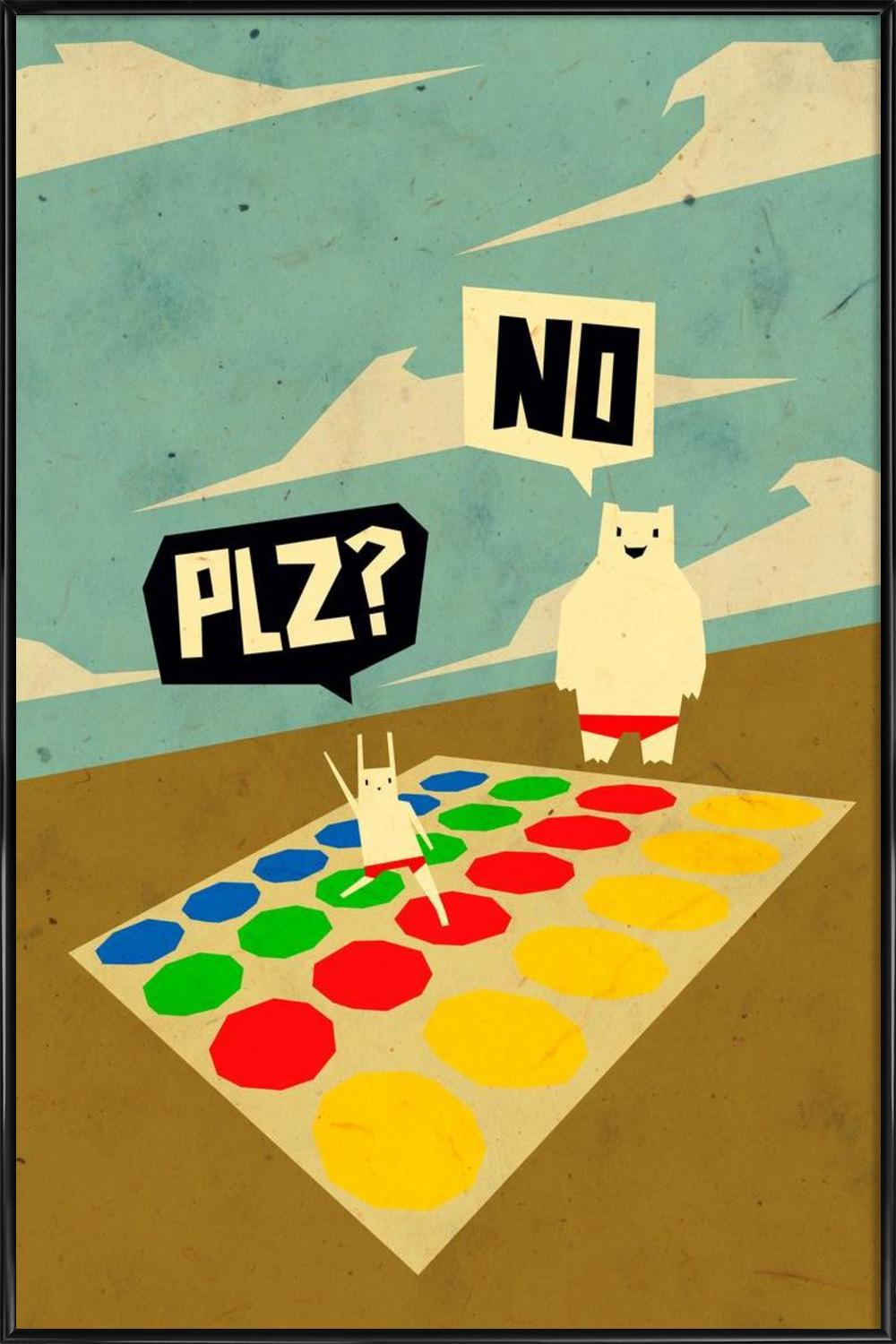 Yeti doesn\'t play Twister as Premium Poster by Yetiland | JUNIQE
