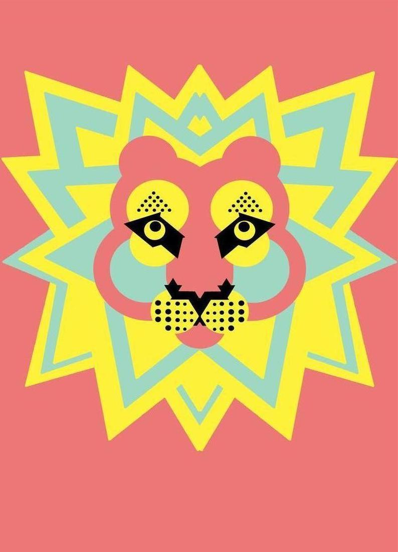 Lion King as Canvas Print by Gareth Pollock Design   JUNIQE