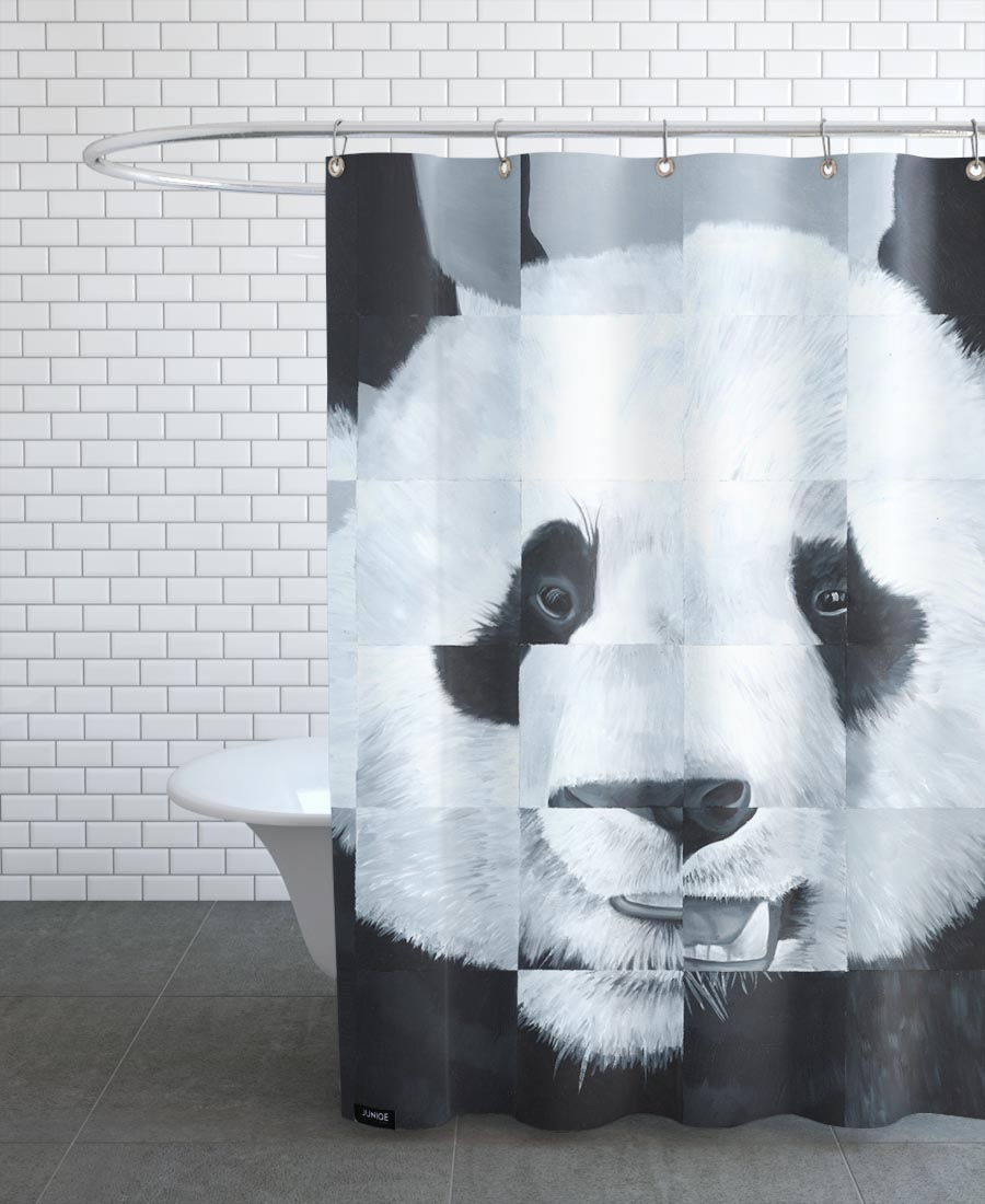Panda As Shower Curtain By Allison Chaplin