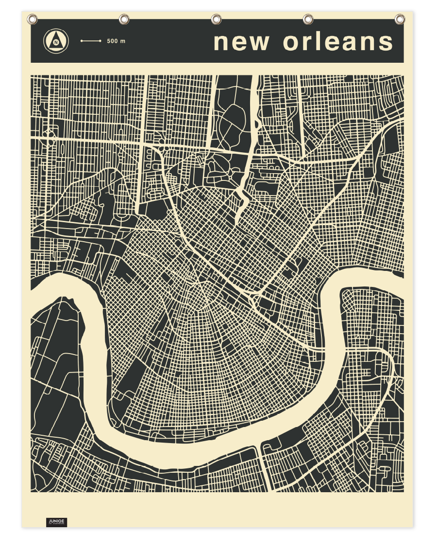 City Maps Series 3 - New Orleans as Premium Poster | JUNIQE UK City Map Of New Orleans on