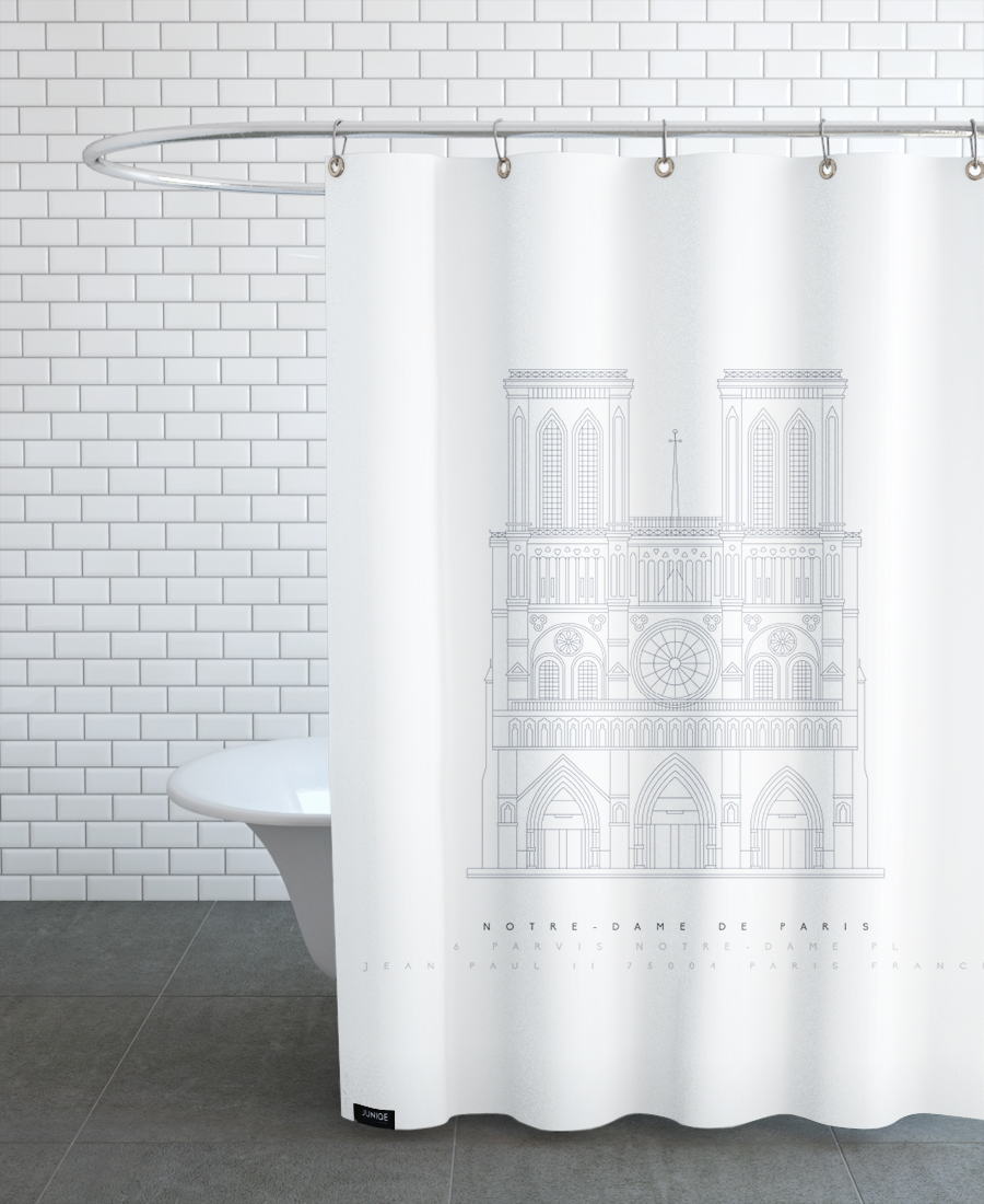 Notre Dame as Shower Curtain by Mat Voyce | JUNIQE