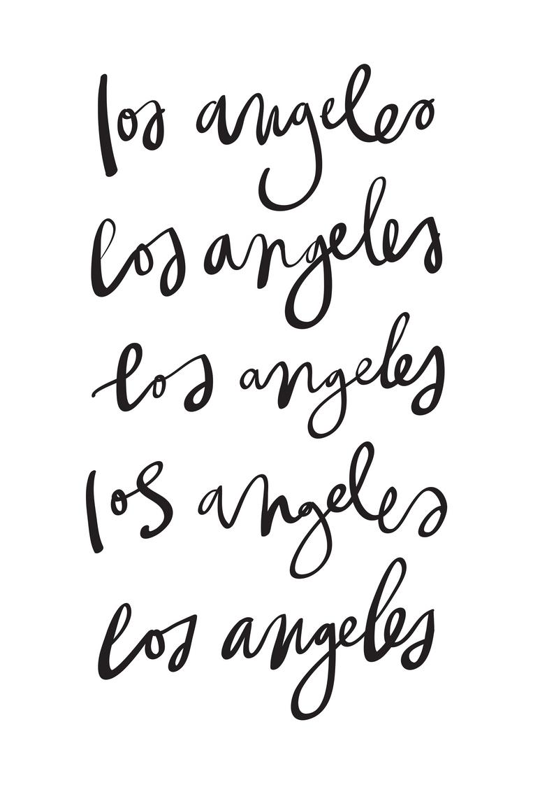 Los Angeles als Leinwandbild von Kristen Polsinelli | JUNIQE