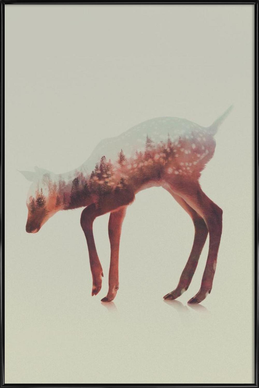 Norwegian Woods: The Deer als Poster im Kunststoffrahmen | JUNIQE