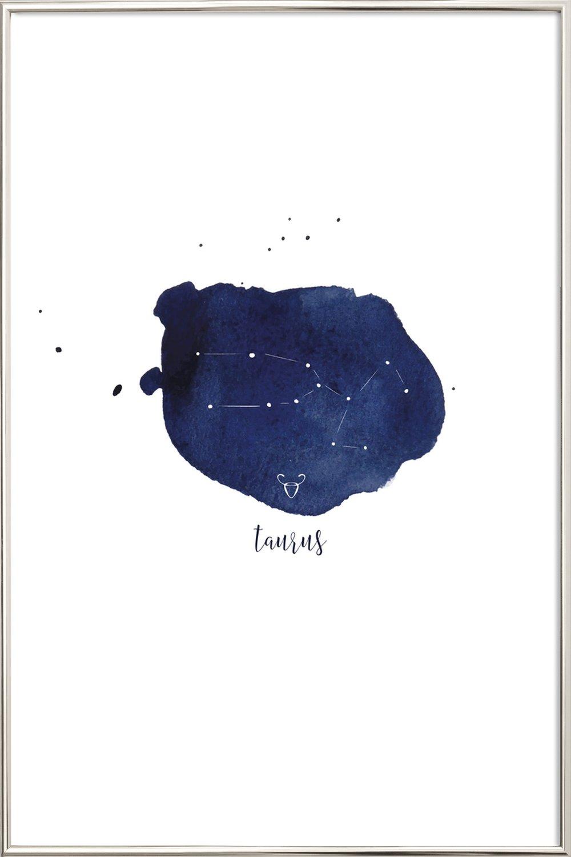 Taurus als Poster im Kunststoffrahmen von KRUTH DESIGN | JUNIQE