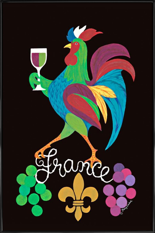 France als Poster im Holzrahmen von Simboli Design   JUNIQE