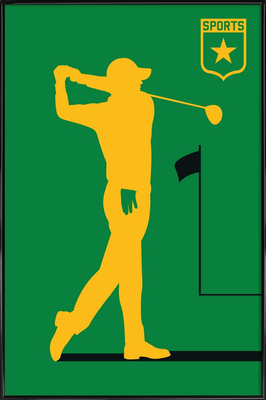 Golf als Poster im Kunststoffrahmen von Bo Lundberg   JUNIQE
