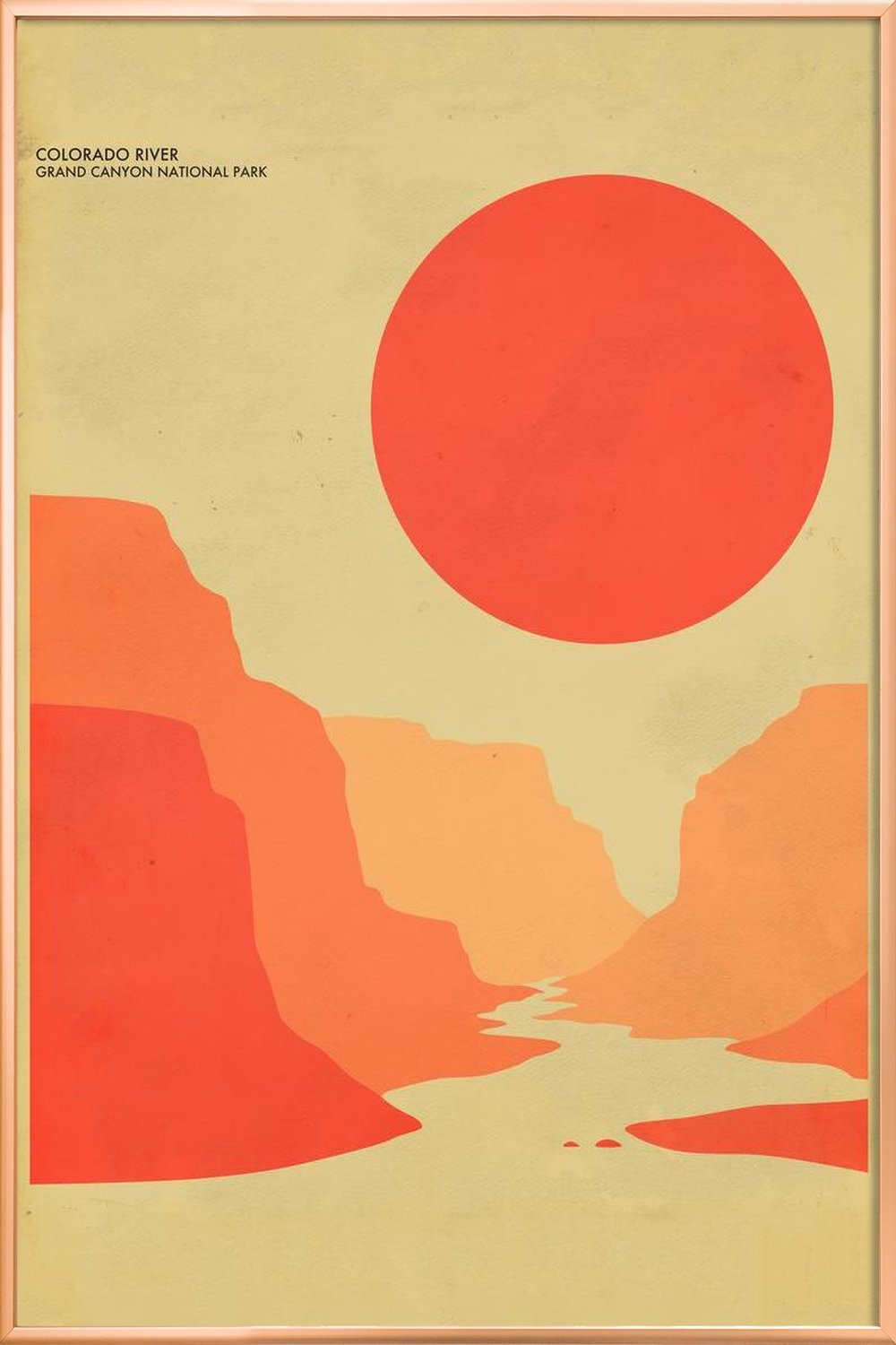 Grand Canyon National Park as Poster in Standard Frame | JUNIQE