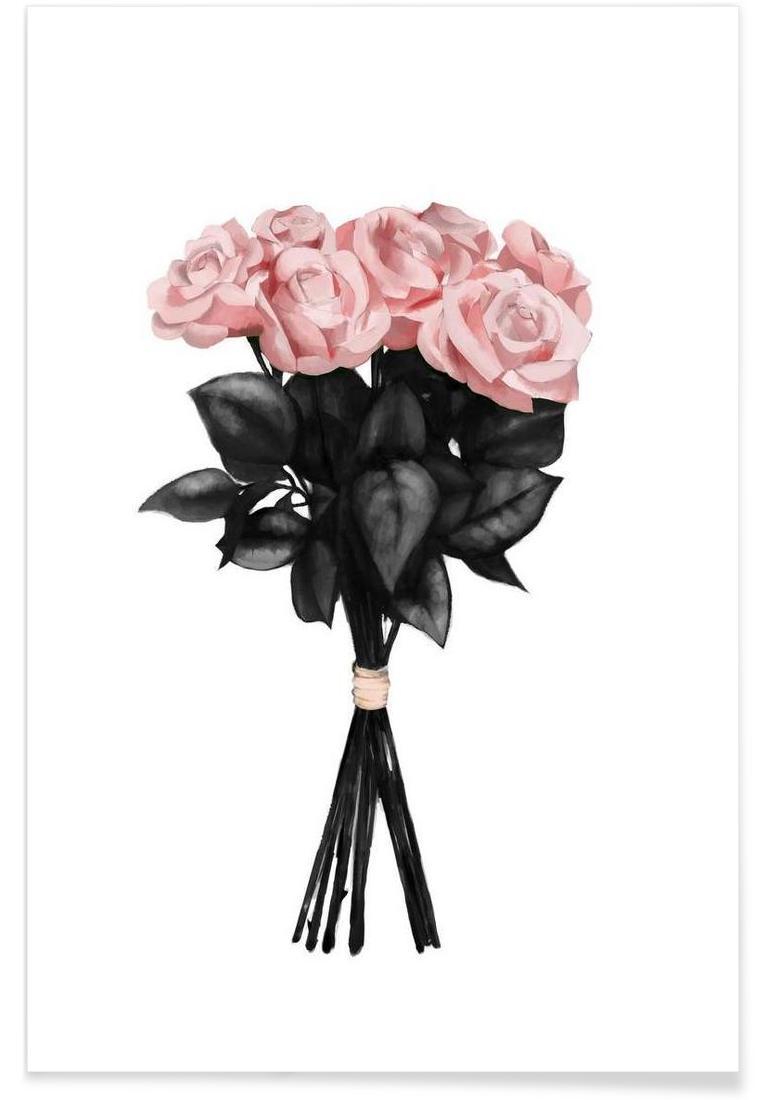 Pink Bouqet - Premium Poster Portrait