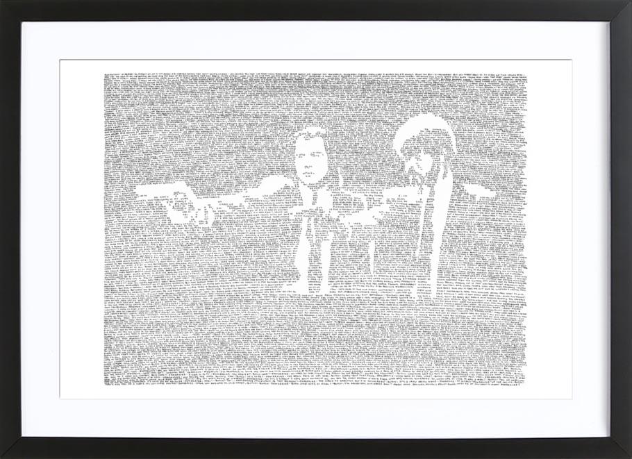 Pulp Fiction als Poster im Kunststoffrahmen von Mike Matola   JUNIQE