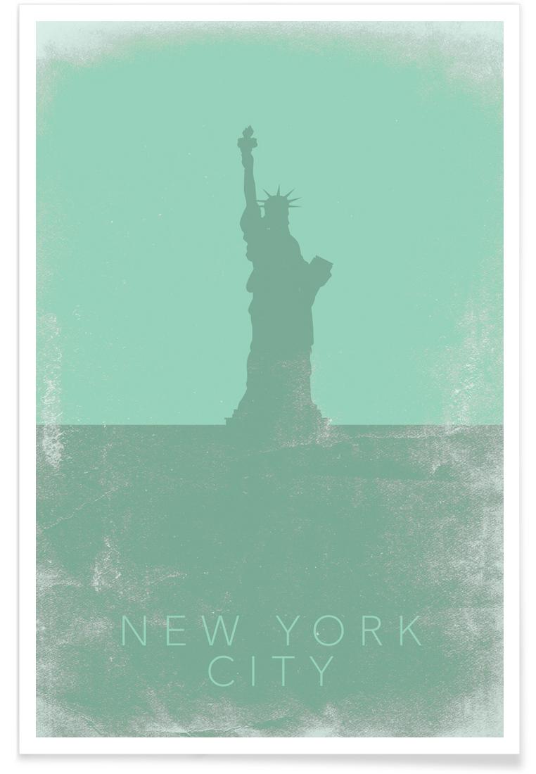New York City als Poster im Kunststoffrahmen von Mat Voyce | JUNIQE