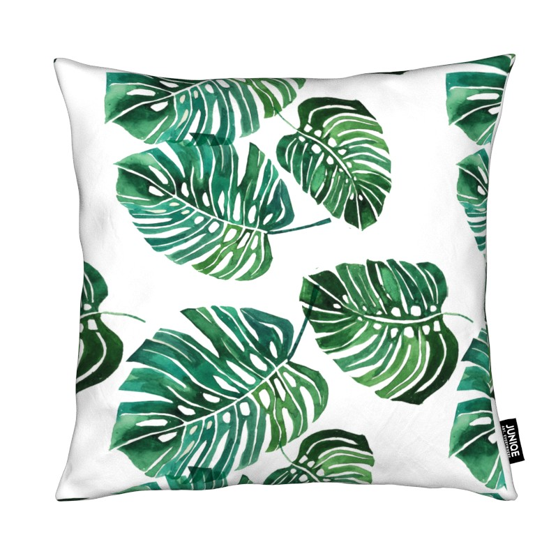 Monstera Pattern - All over cushion cover