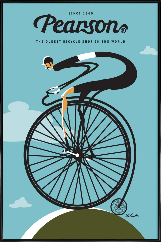 Pearson als Poster im Kunststoffrahmen von Michael Valenti   JUNIQE