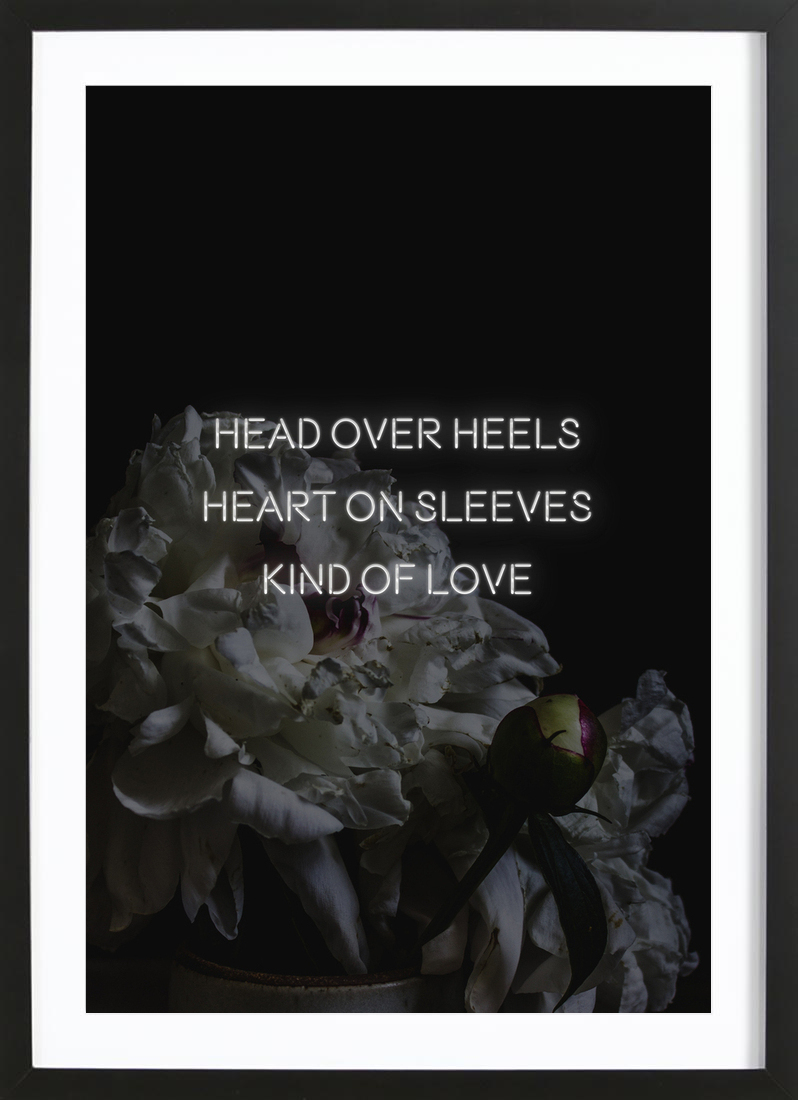 Head over heals as Poster in Wooden Frame by Oh Darling | JUNIQE