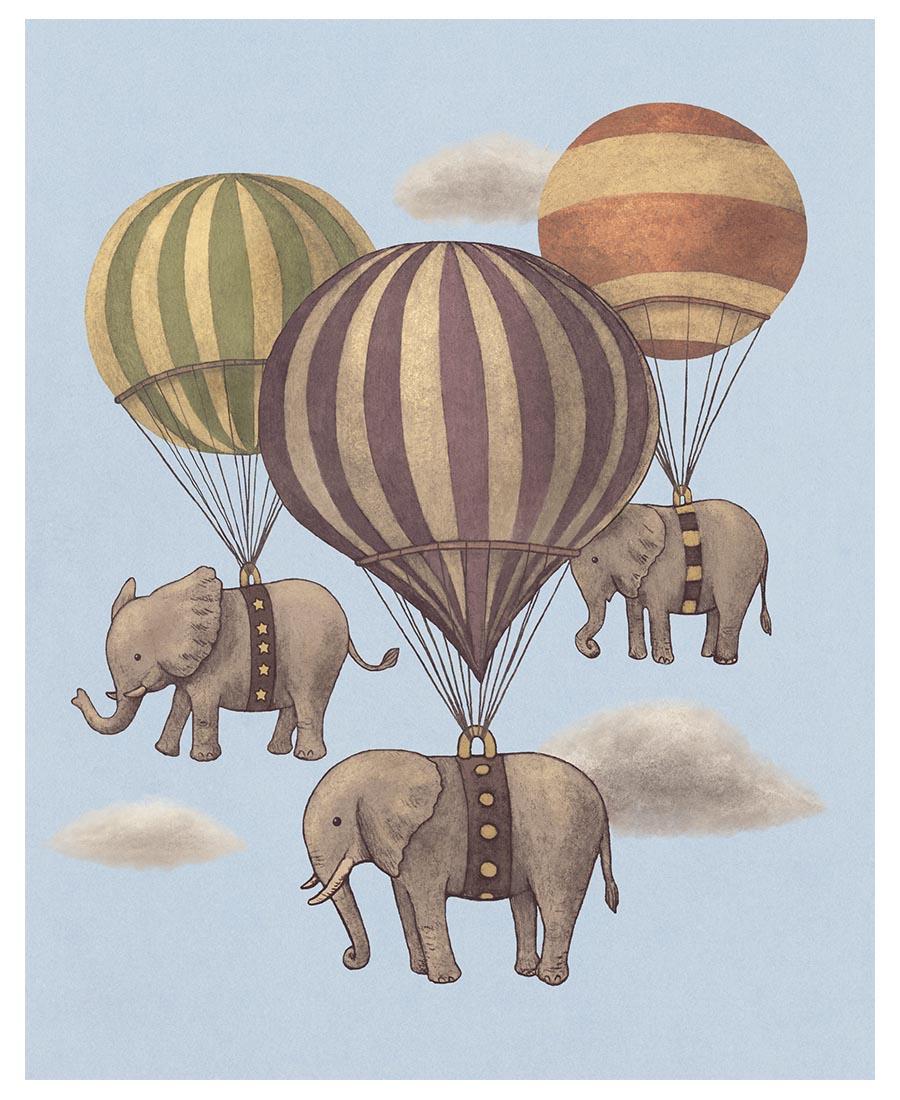 Flight of the Elephants als Poster von Terry Fan | JUNIQE