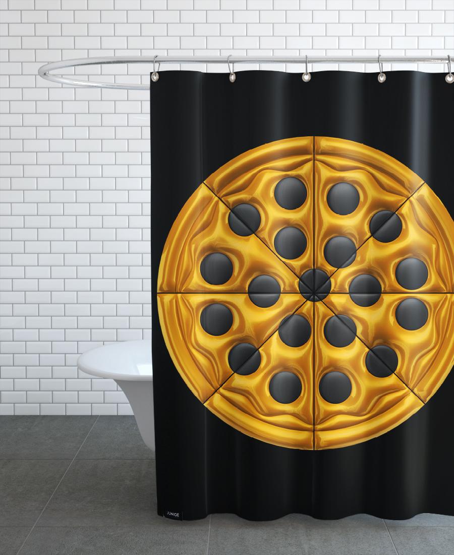 Pizza As Shower Curtain By Octavian