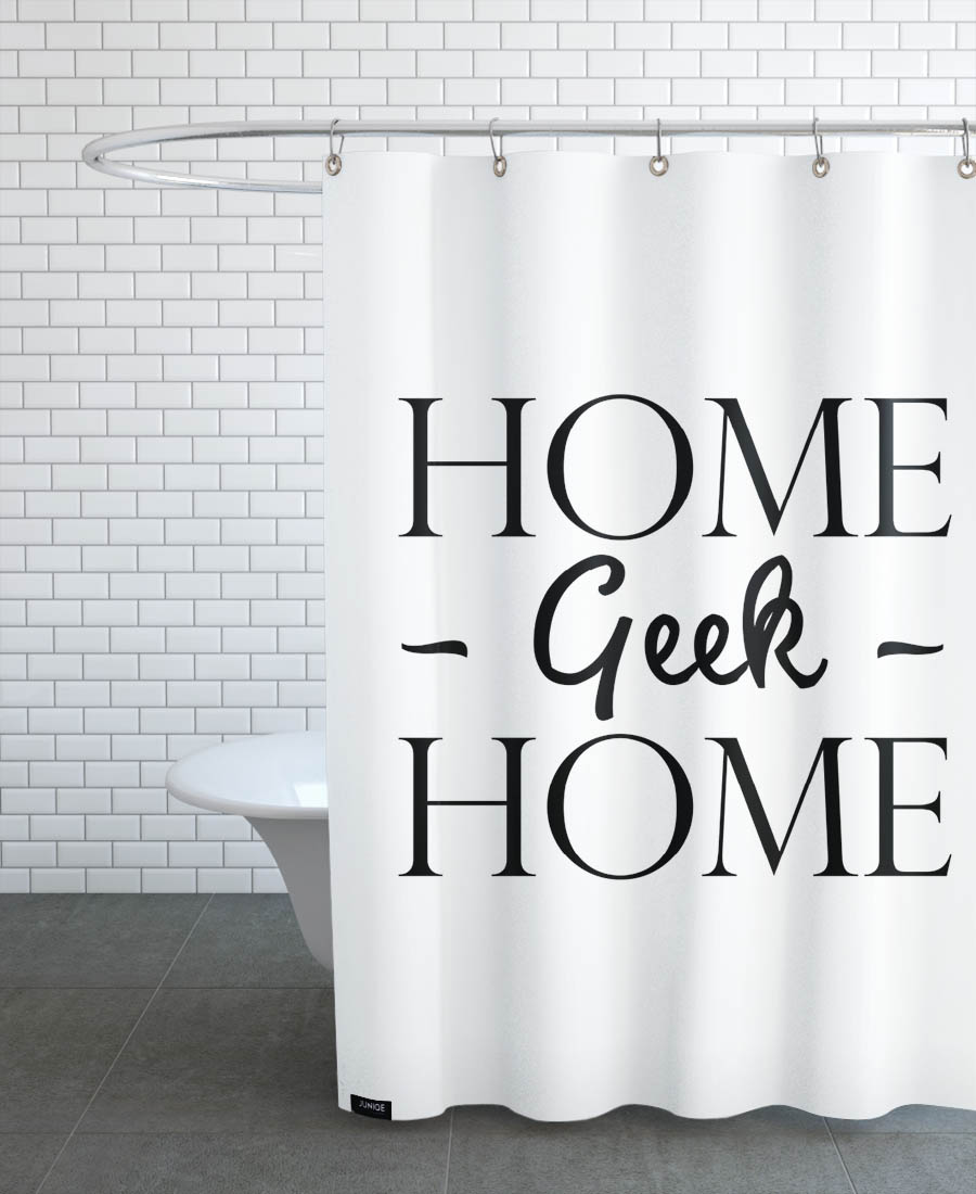 Home Geek As Shower Curtain By JUNIQE