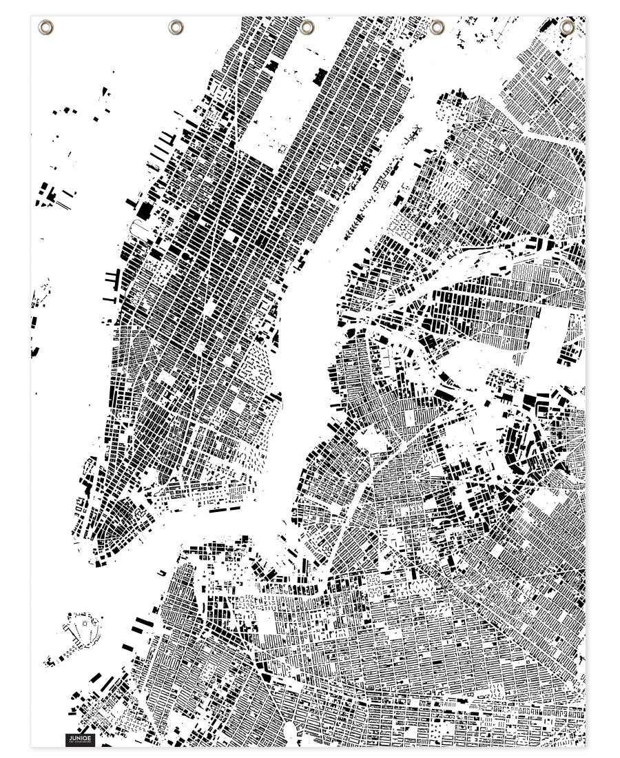 New York Map Black And White.New York Map Schwarzplan As Poster By Hubert Roguski Juniqe