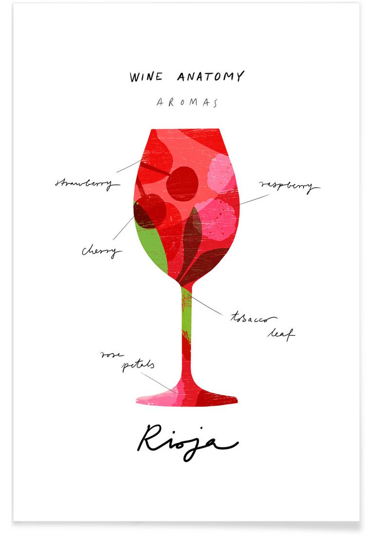 Red Wine Als Premium Poster Von Ana Zaja Petrak Juniqe