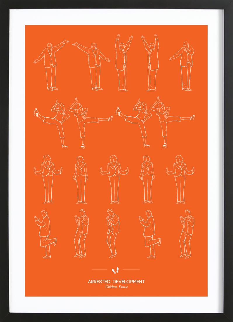 Arrested Development - Chicken Dance als Poster im Holzrahmen   JUNIQE