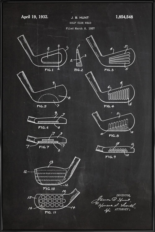 Golf Head als Poster im Kunststoffrahmen   JUNIQE