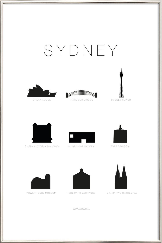 Sydney als Poster im Alurahmen von SCHUMFF | JUNIQE