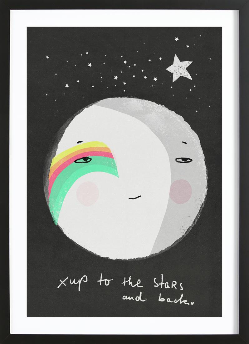 Up to the Stars als Poster im Holzrahmen von treechild | JUNIQE