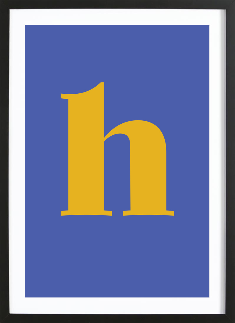 Blue Letter H as Premium Poster by JUNIQE | JUNIQE