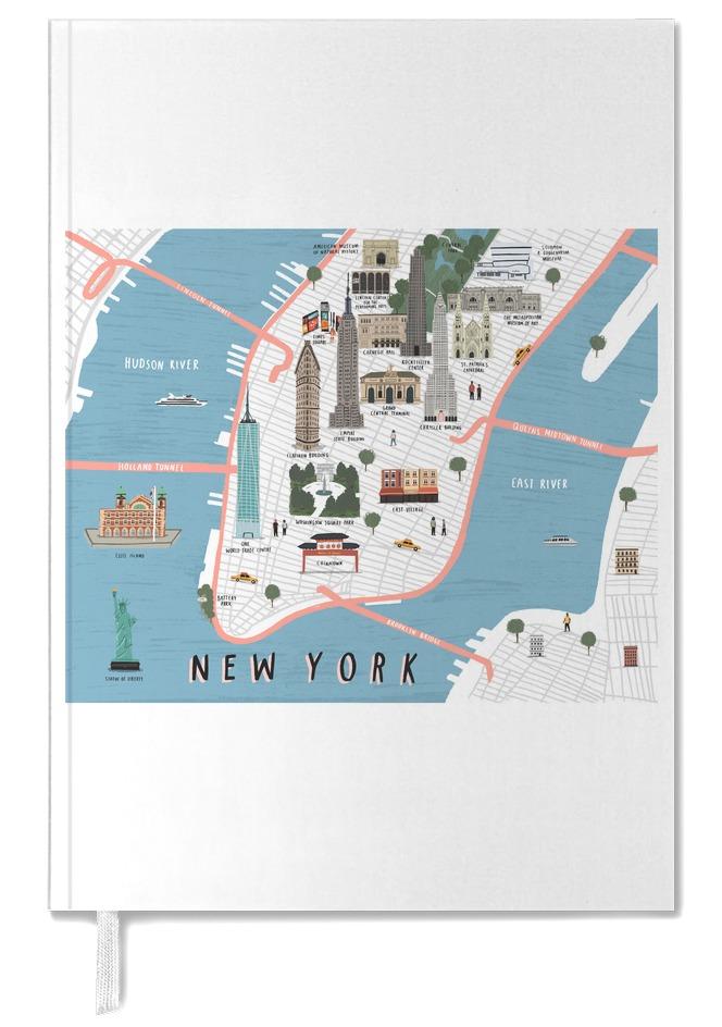 New York Map als Poster im Holzrahmen von Alex Foster | JUNIQE