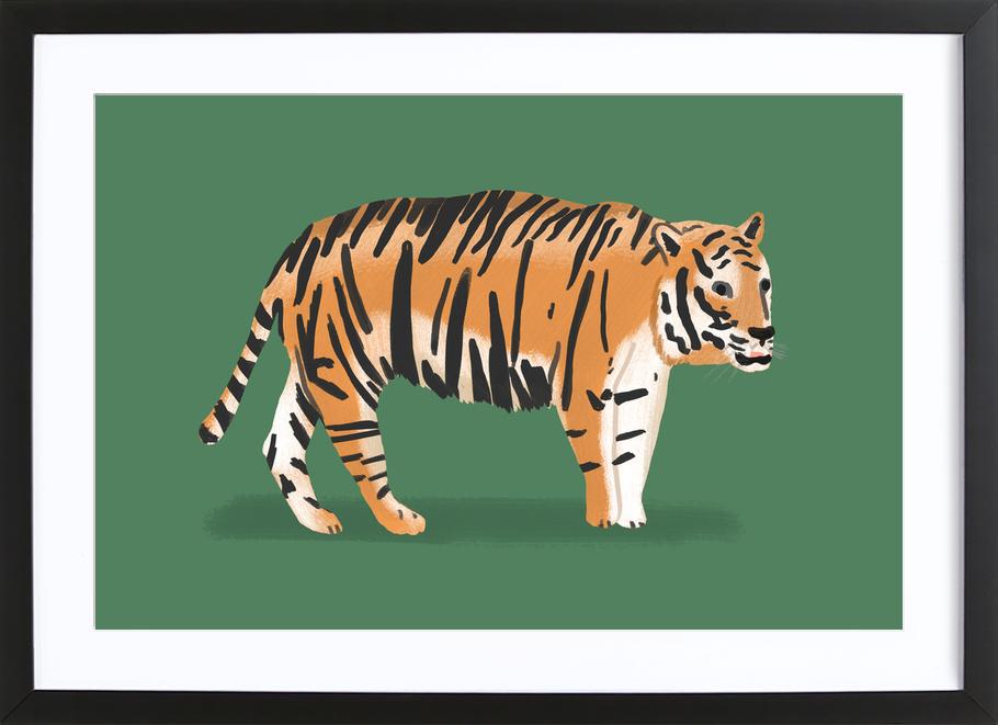 Tiger als Poster im Holzrahmen von Alex Foster | JUNIQE