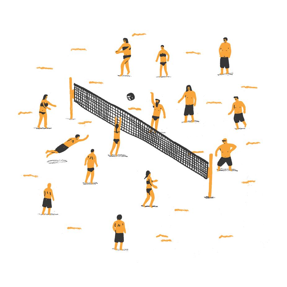 Volleyball als Postkartenset von Alex Foster | JUNIQE