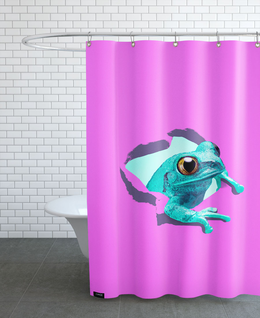 Its A Frog Shower Curtain