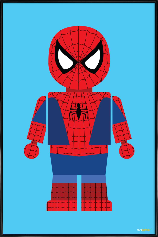 Spiderman Toy als Poster im Kunststoffrahmen von Rafa Gomes | JUNIQE