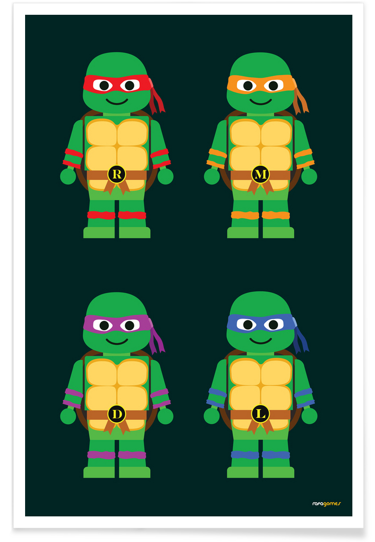 Teenage Mutant Ninja Turtles als Leinwandbild von Rafa Gomes | JUNIQE