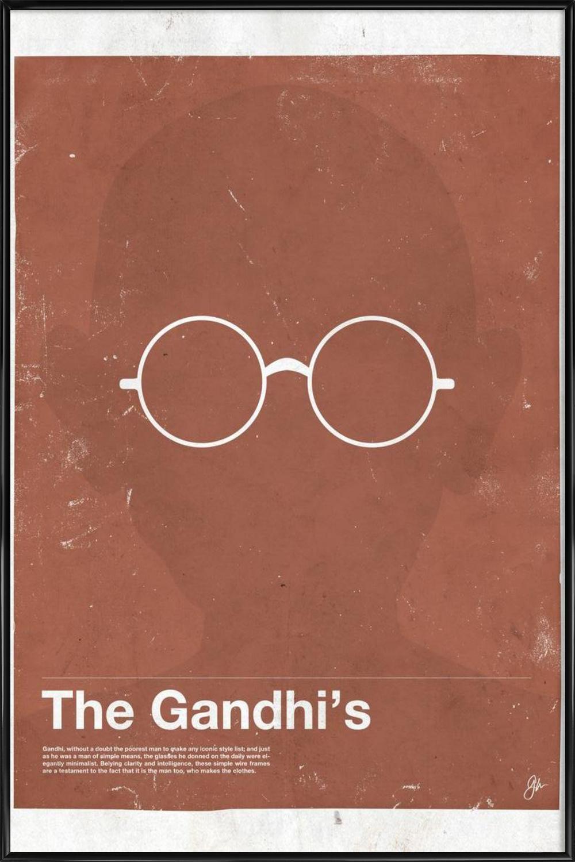 Framework Gandhi als Alu-Dibond Druck von Moxy Creative House | JUNIQE