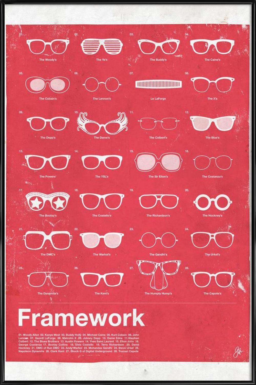 Framework als Poster im Kunststoffrahmen   JUNIQE