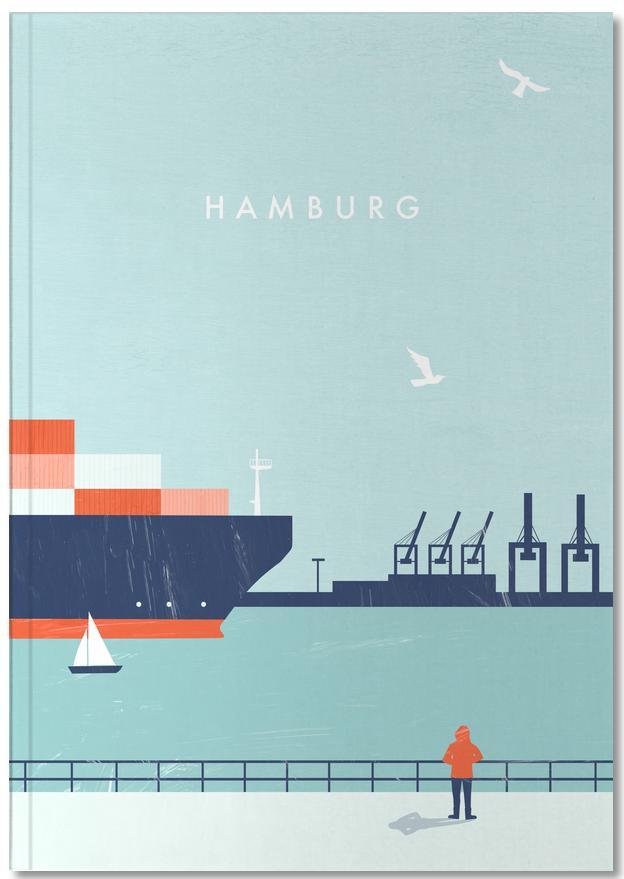 Hamburg als Poster im Holzrahmen von Katinka Reinke | JUNIQE