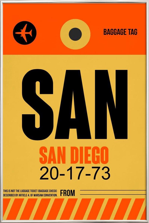 SAN-San Diego als Poster im Alurahmen von Naxart | JUNIQE