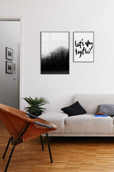 Victor White Black Wall Furniture City Wall Art