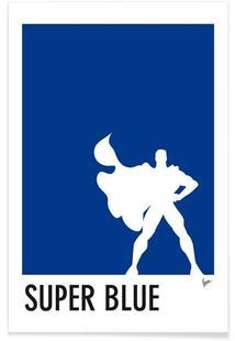 My Superhero 03 SuperBlue Minimal Poster